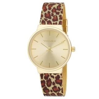 Link to Vernier Womens Animal Print Mesh Strap Watch Similar Items in Women's Watches