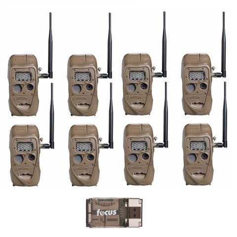 Cuddeback CuddeLink J Series Long Range IR Trail Camera (8-Pack) with USB Reader