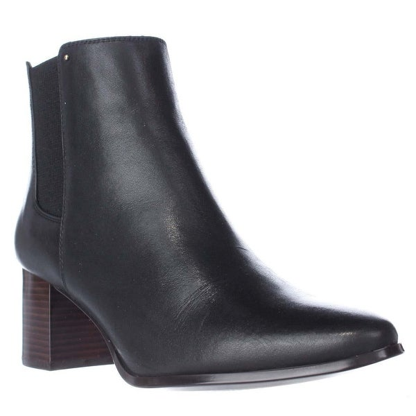 Calvin Klein Felda Block Heel Ankle Boots, Black