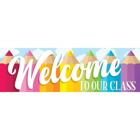 Magnetic Welcome Banner Colored Pencils