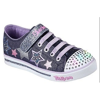 02408d537c61 Shop Skechers Twinkle Toes Sparkle Glitz Twinklerella Girls Light Up  Sneakers Denim Multi 10 - Free Shipping Today - Overstock - 18281686