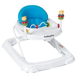 Baby Walker Adjustable Height Removable Toy Wheels Folding Portable 3 - 24'' x 28'' x 22''