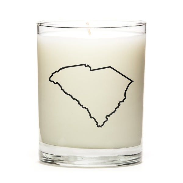 State Outline Soy Wax Candle, South-Carolina State, Peach Belini