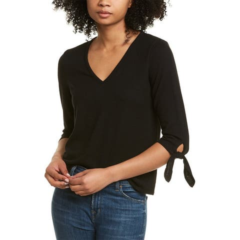 Cece By Cynthia Steffe Tie-Sleeve Top