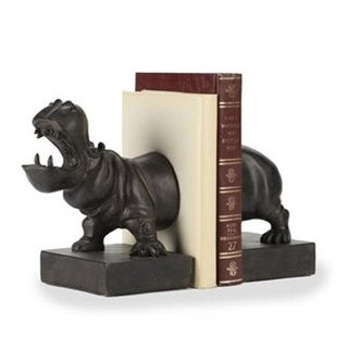 Zentique TME4617005 12.5 x 13.5 x 5 in. Resin Hippopotomus Bookend