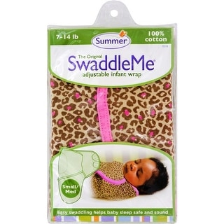 Summer Infant SwaddleMe Adjustable Infant Wrap - Small/Medium 7 - 14 lbs - Leopard Clothing and Accessories