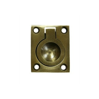 """Deltana FRP175 Flush Ring Pulls, Solid Brass, 1 3/4"""" X 1 3/8"""" - N/A"""