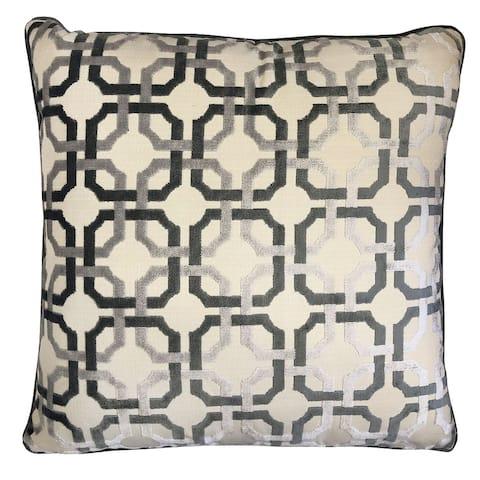 Rodeo Home Martina Decorative Luxury Geometric Velvet Throw Pillow