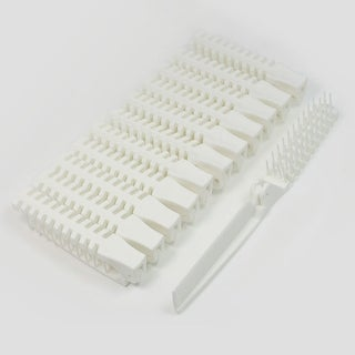 Unique Bargains Foldable Pocket Hair Care Comb Wide Fine Tooth Double End 12 Pcs