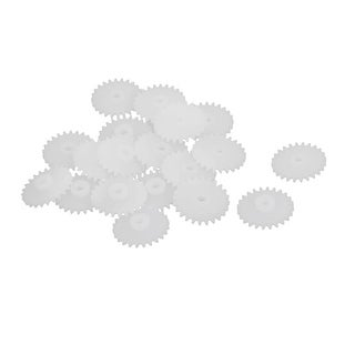 20PCS 24 Teeth 13mm Outer Diameter Plastic Gear Wheel for RC Toy Car