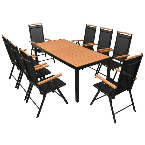 Shop VidaXL Outdoor Dining Set Table Chairs 9 Piece WPC