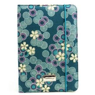 JAVOedge Cherry Blossom Folio Book Case with Stand for the Apple iPad Mini, iPad Mini 2 with Retina (Ocean Blue)