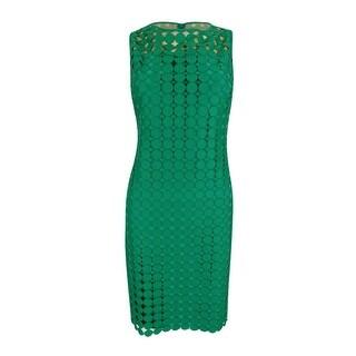 Lauren Ralph Lauren Women's Geometric-Lace Sleeveless Dress