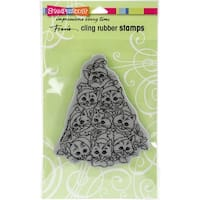 "Stampendous Cling Stamp 7.75""X4.5""-Cat Tree"
