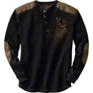 Legendary Whitetails Men's Long Sleeve Cotton Thermal Commando Henley