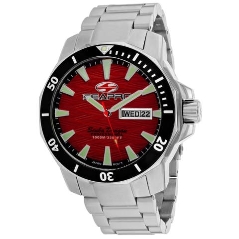 Seapro Men's Scuba Dragon Diver Limited Edition 1000 Meters Red Dial Watch - SP8317S
