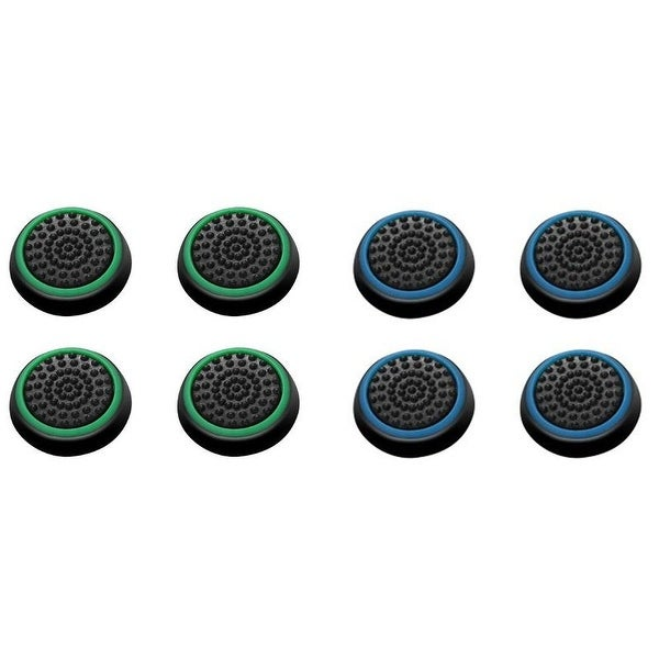 Insten Green/ Blue Controller Analog Thumbstick Cap for Playstation 4 PS4/ PS3/ PS2/ Micrsoft Xbox 30/ Xbox One (Set of 8)