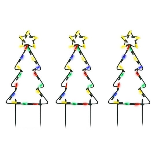 product works 20043 pathway tree christmas decoration multicolored metal frame