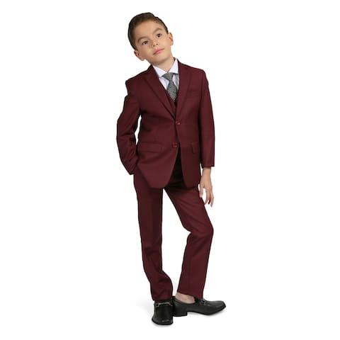 Ferrecci Boys 5-Piece 2-Button Notch Collar Suit Set