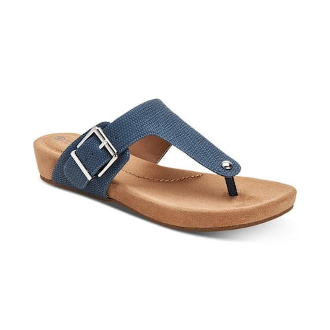 Giani Bernini Womens Rivver Leather Open Toe Formal Slide Sandals