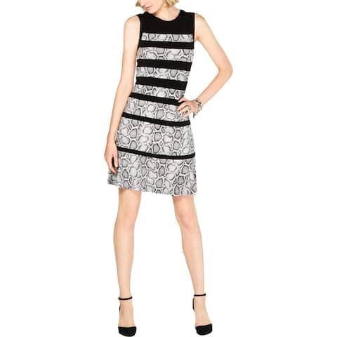 MICHAEL Michael Kors Womens Party Dress Snake Print Sleeveless