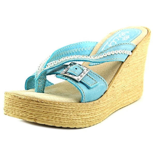 Sbicca Pescadero Open Toe Leather Wedge Sandal