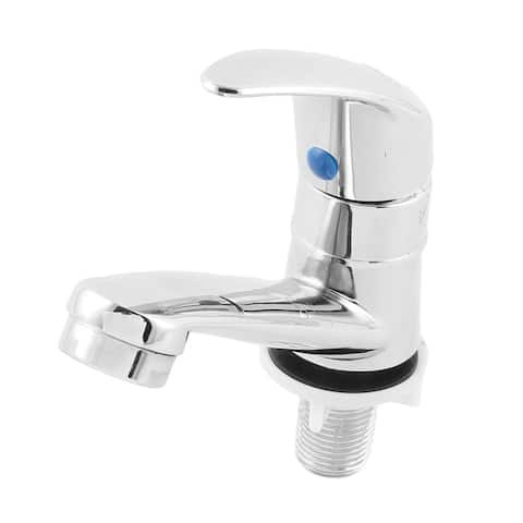 Kitchen Bathroom Sink Single Handle Faucet Tap Silver Tone