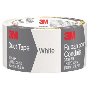 "3M 3920-WH Duct Tape, White, 1.88"" x 20 yds."
