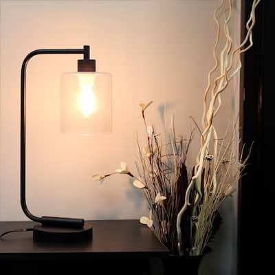 Black Iron Antique-style Industrial Desk Lamp
