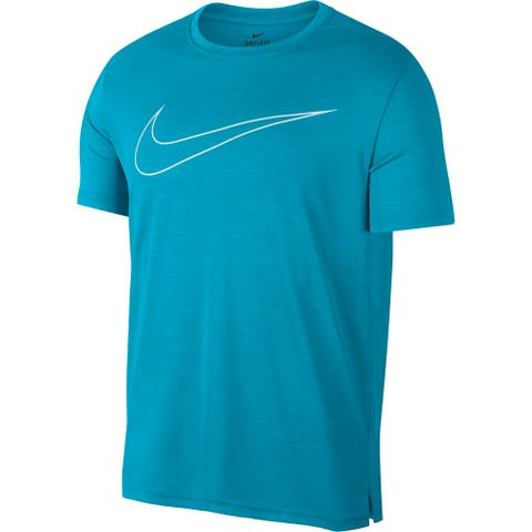 Nike Mens Activewear Top Blue Size XL Superset Dri Fit Short Sleeve