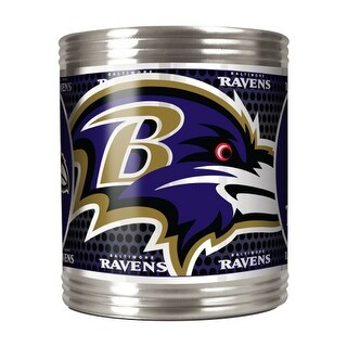 Great American Products Baltimore Ravens Can Holder Stainless Steel Can Holder