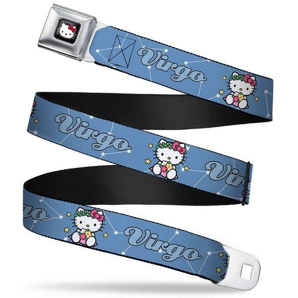 Hello Kitty W Red Bow Full Color Black Hello Kitty Zodiac Virgo Webbing Seatbelt Belt