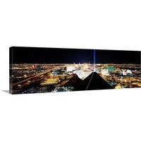 Premium Thick-Wrap Canvas entitled City from Mandalay Bay Resort and Casino, Las Vegas, Clark County, Nevada - Multi-color