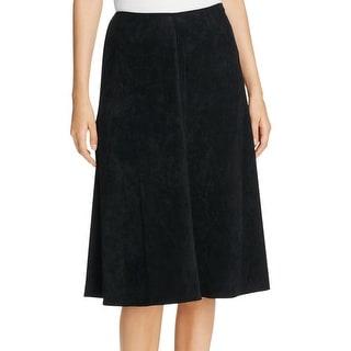 Calvin Klein NEW Black Faux-Suede Women's Size 14 A-Line Skirt