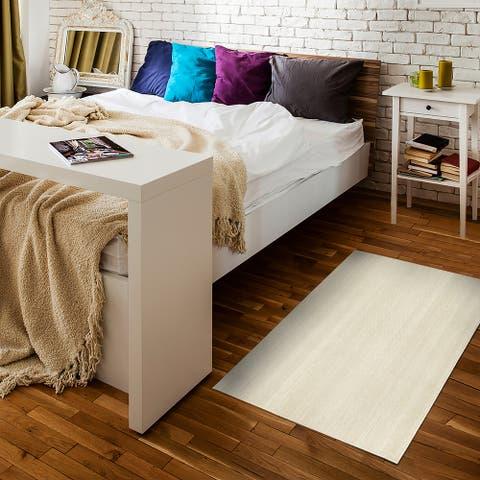 My Magic Carpet Machine Washable Area Rug Solid Cream