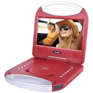 Sylvania 10 in. Portable DVD Player With Integrated Handle - Red