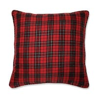 """20"""" Perfectly Plaid Country Rustic Decorative Christmas Throw Pillow - black"""