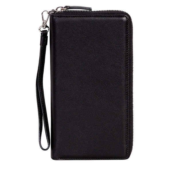 Scully Western Soft Plonge Leather RFID Gusseted Wristlet - One size