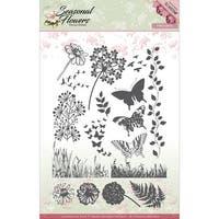 Find It Trading Precious Marieke Clear Stamps-Seasonal Flowers