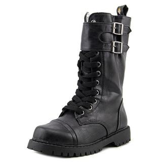 Volatile Kids Sikita Round Toe Leather Boot