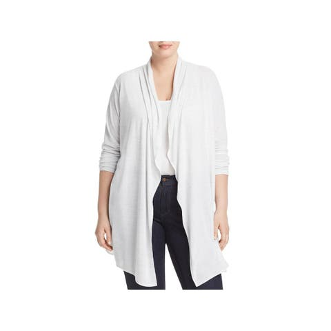 Marc New York by Andrew Marc Womens Plus Cardigan Space Dye Long Sleeves
