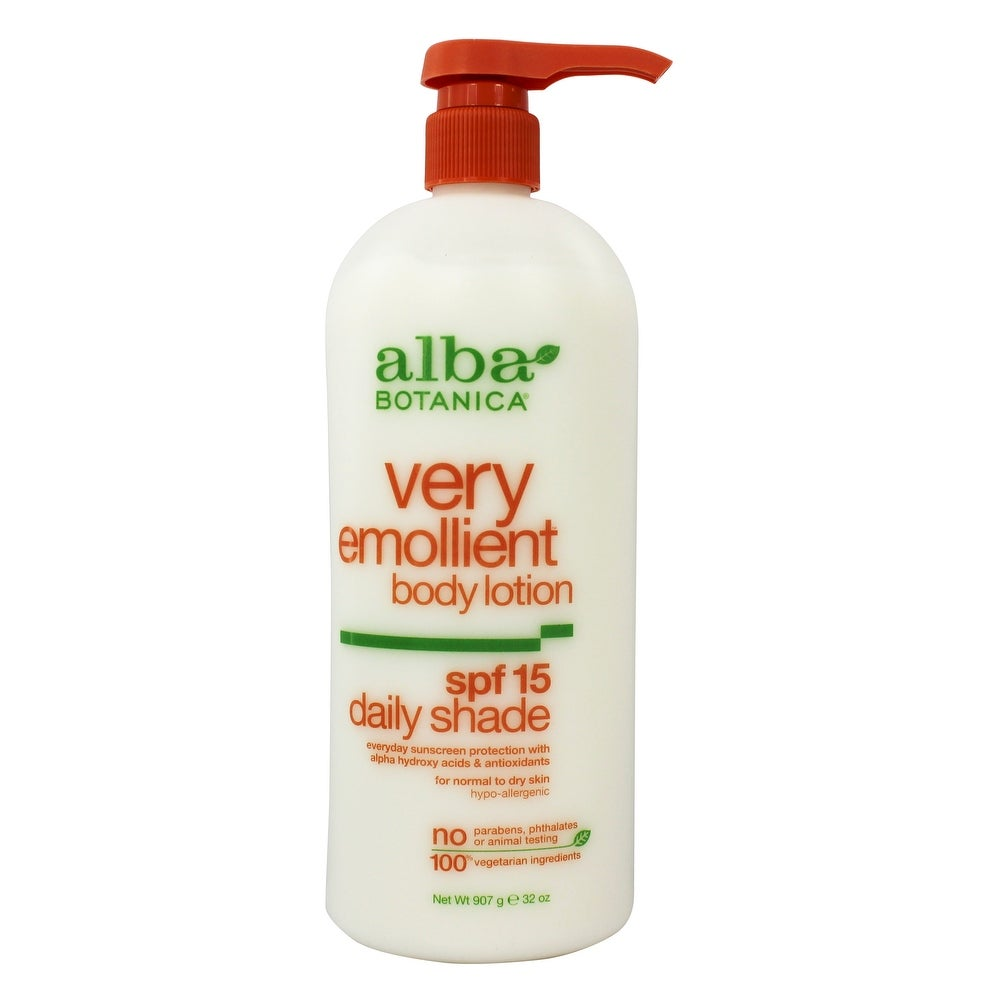 Alba Botanica - Natural Very Emollient Body Lotion Daily Shade 15 SPF (Facial Sunscreen - White)