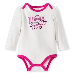 Circo Girls Mommy's Favorite Present Holiday Christmas Shirt Almond Cream