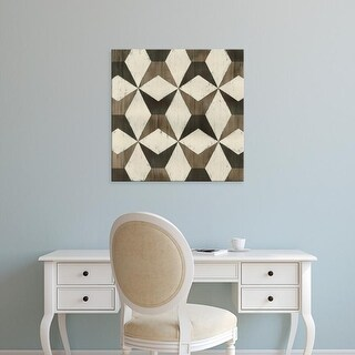 Easy Art Prints June Erica Vess's 'Driftwood Geometry IX' Premium Canvas Art