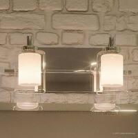 "Luxury Modern Bathroom Vanity Light, 6""H x 13""W, with Posh Style, Polished Chrome Finish"