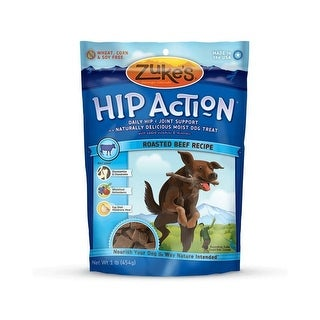 Zuke's Hip Action Treats with Glucosamine Roasted Beef 1 lbs.