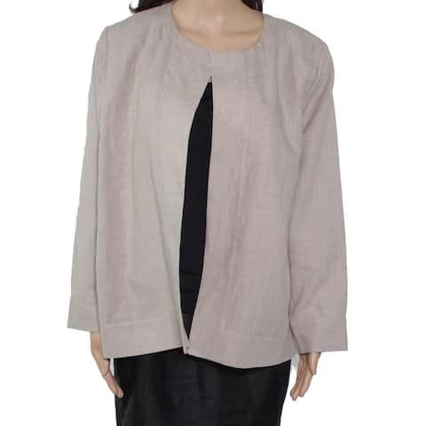 MASAI Women's Jacket Natural Beige Size Small S Open Front Linen
