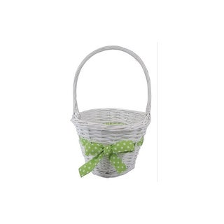 Darice Basket Easter W Green Bow