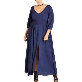 City Chic Womens Maxi Dress Night Out V-Neck - 14