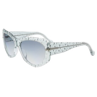 Balenciaga BA0034 84B Light Blue Bubble Wayfarer Sunglasses
